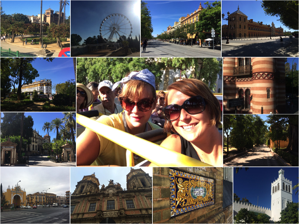 Impressionen von der Hop-On-Hop-Off Bustour und Spaziergängen durch Sevilla