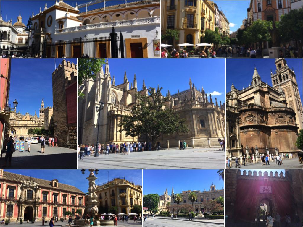 Impressionen der Hauptsehenswürdigkeiten von Sevilla