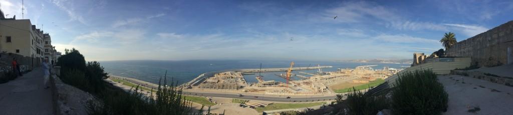 Blick von Tangier Richtung Europa